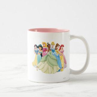 Disney Princess | Aurora, Tiana, Cinderella Center Two-Tone Coffee Mug