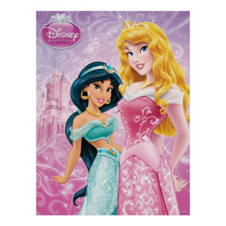 Disney Princess | Jasmine and Aurora Poster