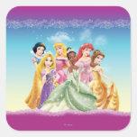 Disney Princesses 10 Square Sticker