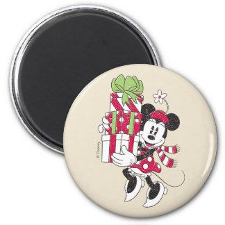 Disney   Vintage Minnie Delivering Holiday Cheer Magnet