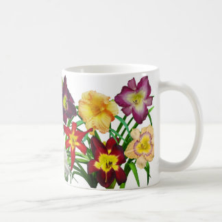 Display of daylilies I (on white background) Coffee Mug