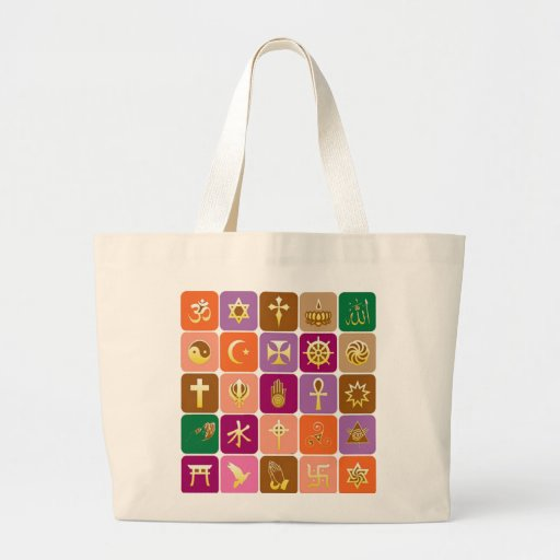DISPLAY only :Decorative Religious ICONS Canvas Bag