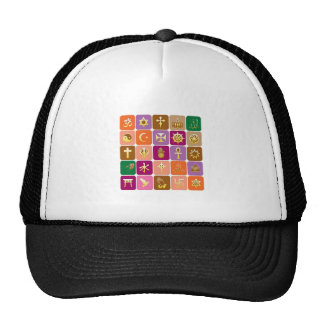 DISPLAY only :Decorative Religious ICONS Hats