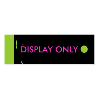 """DISPLAY ONLY"" Hang Tag Business Card Template"