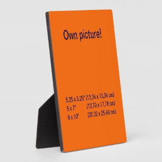 Display orange square plaque