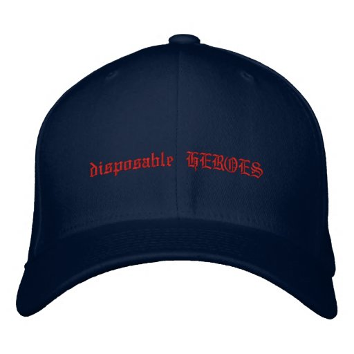disposable HEROES Embroidered Hats