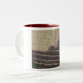 Disposition of Iron in Variegated Strata Two-Tone Coffee Mug