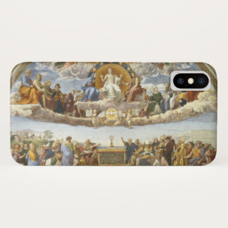 Disputation of the Holy Sacrament by Raphael iPhone X Case