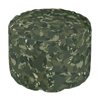 Disruptive khaki camouflage pouf