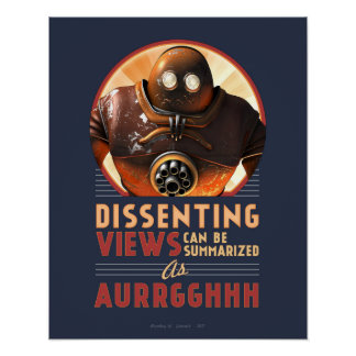 """Dissenting Views Can be Summarised poster (16x20"""")"""