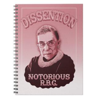 Dissention RBG Spiral Notebooks