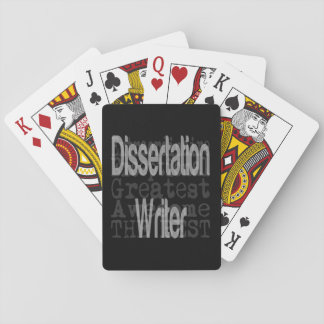 Dissertation Writer Extraordinaire Playing Cards