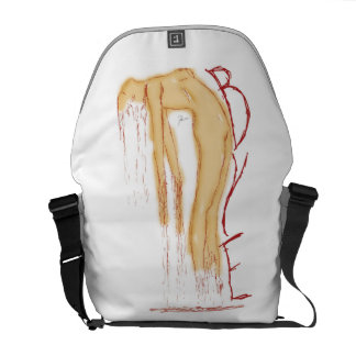 Dissolving Woman Bag Courier Bag