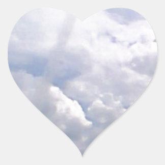 Distant Airplane Heart Sticker