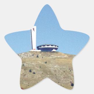Distant Buzludzha, Balkan Mountains, Bulgaria Star Sticker