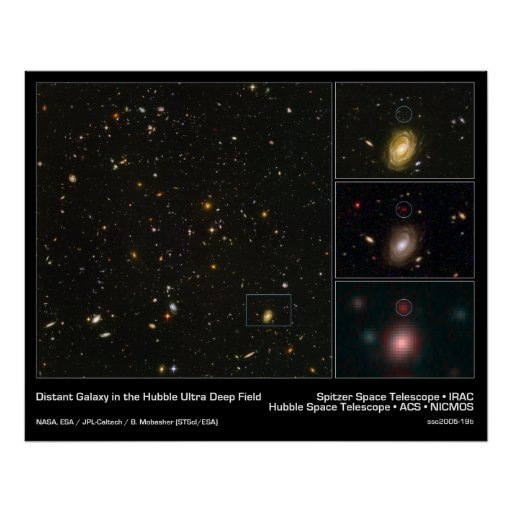 Distant Galaxy in the Hubble Ultra Deep Field Print