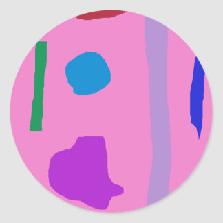 Distant Moon Round Sticker