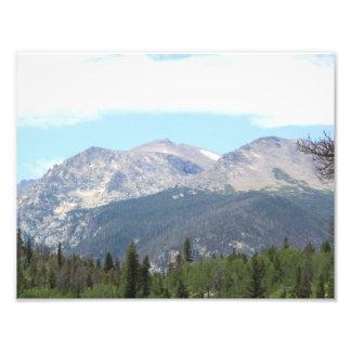 Distant peaks photographic print