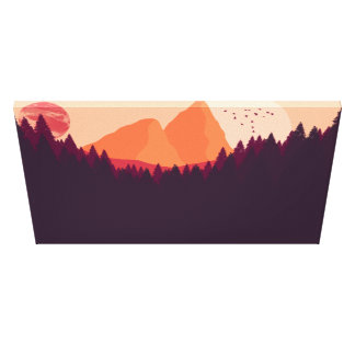Distant Planet Landscape Canvas Print