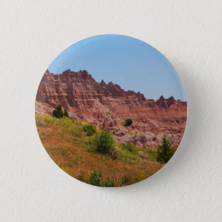 """Distant Red Cliffs"" collection 6 Cm Round Badge"