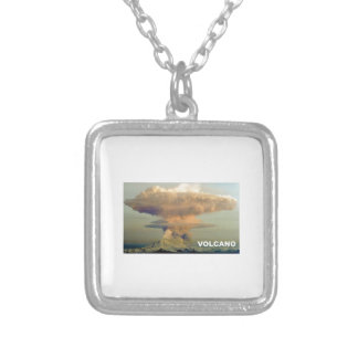Distant Volcano Silver Plated Necklace