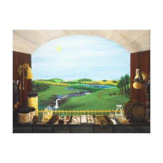 Distillers Window-36x27 gallery canvas