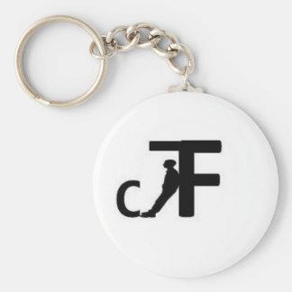 DistinctFriend Accesories Basic Round Button Key Ring