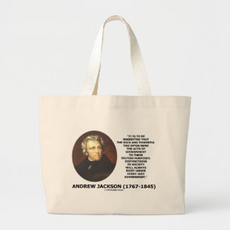 Distinctions In Society Exist Under Just Gov't Jumbo Tote Bag