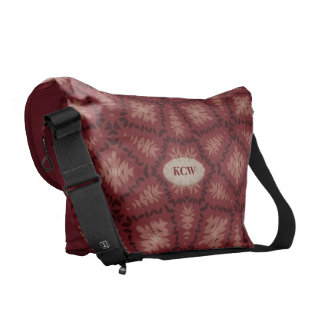 Distinctive Brown Pattern Monogrammed Courier Bags