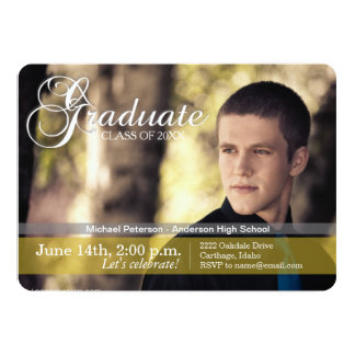 Distinctive Photo Graduation Party Invitation