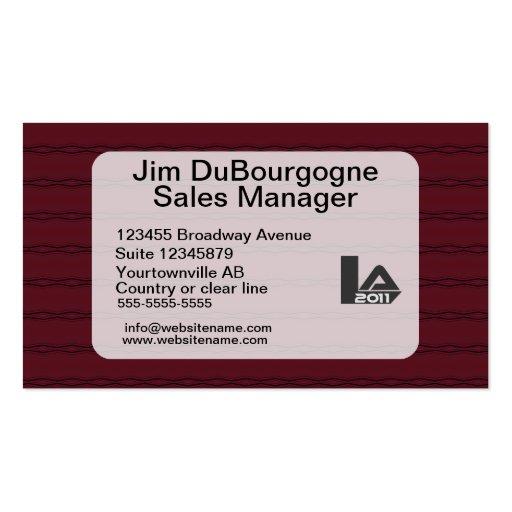 Distinguished burgundy and dark blue business cards