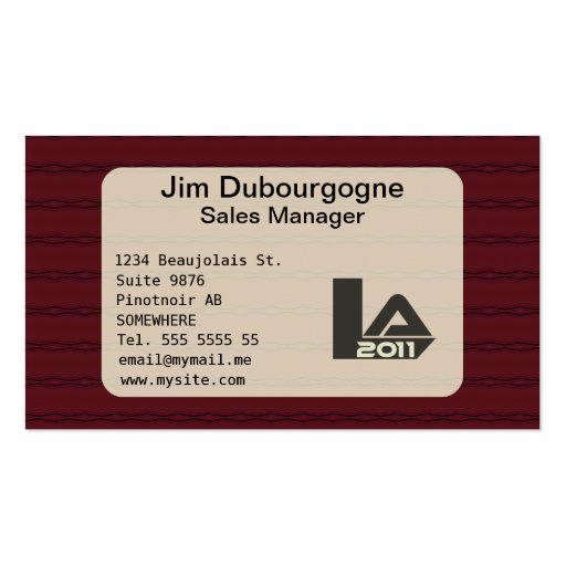 Distinguished burgundy and dark blue business card template