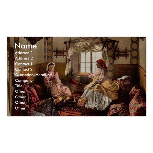 Distinguished Moorish women, Algiers, Algeria vint Business Card Templates
