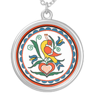 Distlefink (orange) - necklace