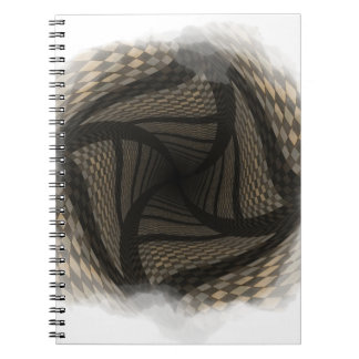 Distorted brown checkered background 2 note book