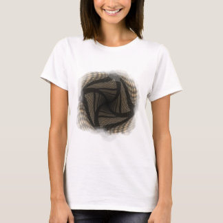 Distorted brown checkered background 2 T-Shirt