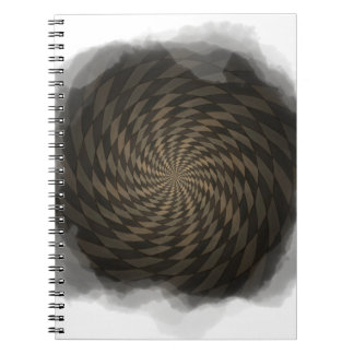 Distorted brown checkered background notebooks