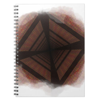Distorted colorful checkers spiral notebook