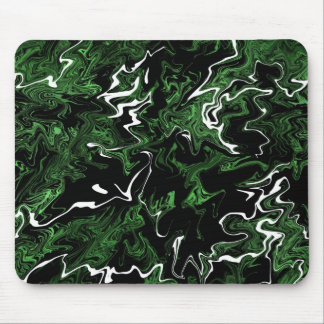 Distorted Green Graphic Mouse Pad