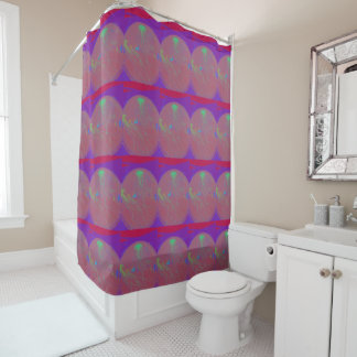Distorted Jellyfish Shower Curtain