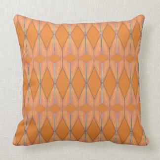 Distorted Orange Daisies Throw Pillow
