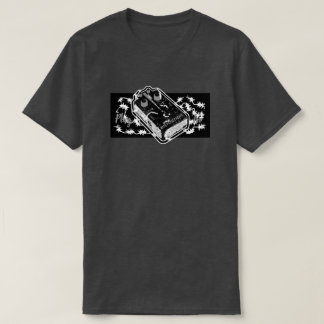Distortion Pedal Blue Plug In - Black & White T-Shirt
