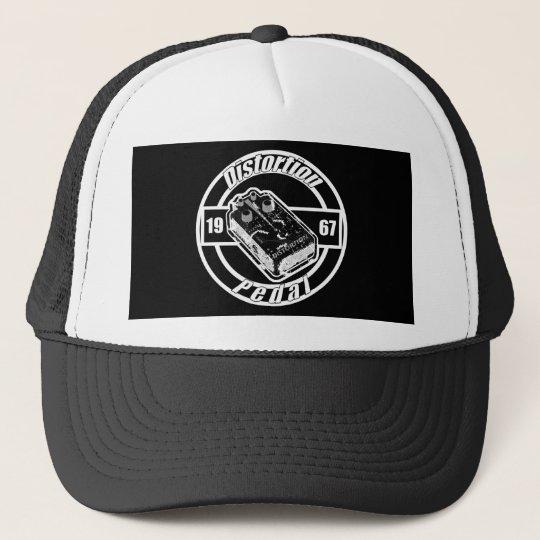 Distortion Pedal -On Black Trucker Hat