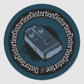 Distortion Pedal Two Tone Blue Stickers