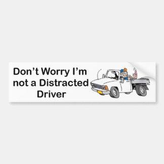 Distracted Driver - Bumper Sticker