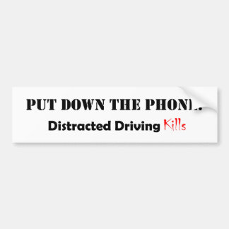 Distracted Driving Bumper Sticker