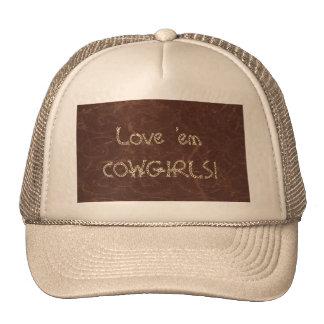 Distress Leather Look Print Cap Hat