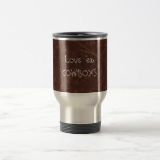Distress Leather Look Print Stainless Steel Travel Stainless Steel Travel Mug
