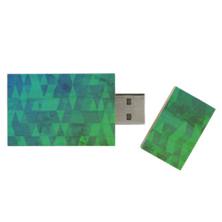 Distressed Abstract Wood USB 2.0 Flash Drive