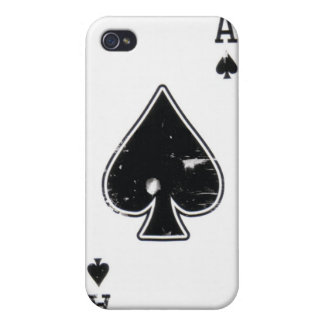 Distressed Ace of Spade iphone case Case For iPhone 4